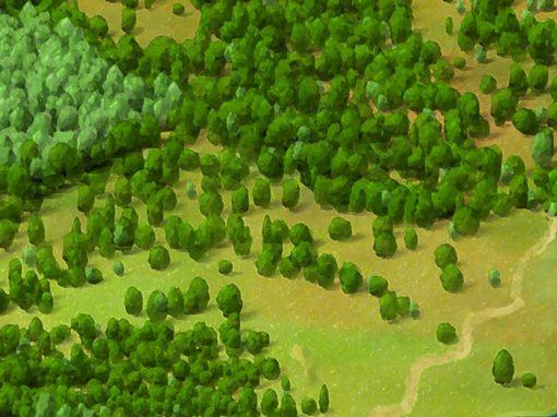 Baranja – Panoramic map
